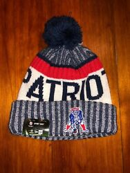 2017 Nfl Sport Knit New Era Onfield Hat Beanie New England Patriots With Tags