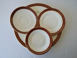 Coalport Bone China England Red Wheat Dinner Plate Bread Coffee Cup Saucer Bowl
