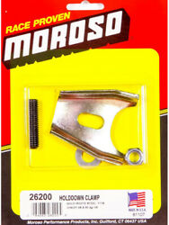 Moroso Chev Dist Hold Down Clamp With Stud Gold Iridite Steel (26200)