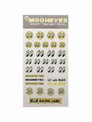Mooneyes Assorted Sticker Sheet Go With Moon,yellow/white Eyes Dm067