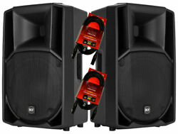 2x Rcf Art 732-a Mk4 12 Active 2-way Powered Pa Speaker 1400w + 25ft Xlr Cables