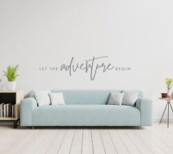 LET THE ADVENTURE BEGIN Vinyl Wall Decal Decor Words Decor Home Quote Lettering