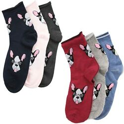 Socks Bulldog French Woman Pero Puppy Clothing Head Faces Black Sock