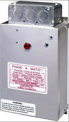 Phase-a-matic Pam-1800hdes Static Phase Converter 12 - 18 Hp