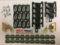 1967-69 Camaro Front And Rear Window Molding Clips/studs 62-piece Kit