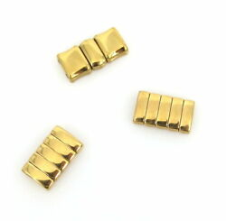 3 X Vintage Panthere 18k Yellow Gold 15mm Watch Links