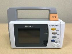 Philips IntelliVue MP2 IBP SP02 NBP TEMP 12 Lead w Battery, Charger