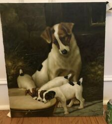 Painting Canvas Copy Of Valentine Thomas Garland Jack Russell Terrier Dog