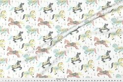 State Fair Carnival Candy Carousel Horses Fabric Printed by Spoonflower BTY