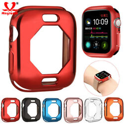 For Apple Watch Series 4 4044mm Silicone TPU Bumper Cover iWatch Plating Case