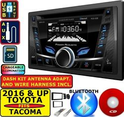 Fits 2016 And Up Toyota Tacoma Bluetooth Cd/mp3/bt/usb/aux Car Radio Stereo Pkg