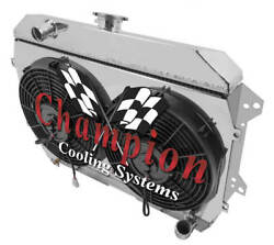 4 Row Ace Radiator W/ 2 12 Fans And Shroud For 1974 1975 Datsun 260z L6 Eng