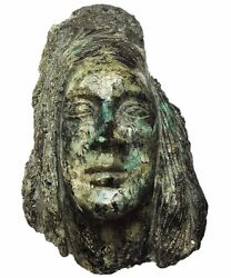 Hand Carved - Emerald And Pyrite Crystal And039inca Warrior Of Lightand039 10kg
