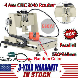 4 Axis CNC 3040 Router Engraver 560W Engraving Drilling Milling Machine Miller