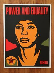 Shepard Fairey Obey Angela Davis Islam Black Panther Power & Equality Poster SN