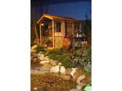 Red Cedar She Shed - 6 x 12ft - Floor + Sliding Door + Porch + Windows + Planter