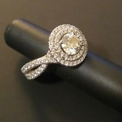 Engagement Ring Size 4.5 White Gold With Combined Total Of 1.2 Cts Of Diamond