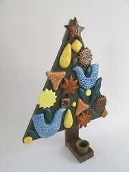Mid Century John French Arklow Style Christmas Tree Candle Holder Fitz And Floyd