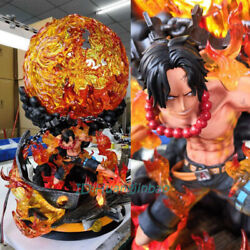 Portgas D Ace Resin Model Fire Fist Painted Statue One Piece Sculpture Anime Gk