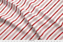 Littlearrow Candy Cane Christmas Watercolor Fabric Printed by Spoonflower BTY