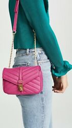 Botkier Pink #x27;Dakota#x27; Small Quilted Leather Crossbody Gold Chain Bag NWT $198 $58.00