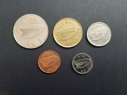 All Irish Coins Minted In 1994 Set Of 5 Coins 1p 5p 10p 20p 1 Punt