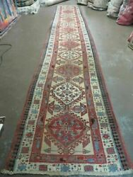 2and03911 X17and039 Antique Hand Made Turkish Wool Rug Runner Carpet Camel Hair Wow