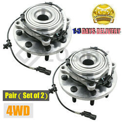 Pair(2) Front Wheel Hub & Bearing Assembly Fits Ram 2500 3500 4WD 2014-2016