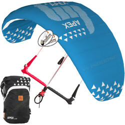 Hq4 Apex 8m Depower Foil Kite W Hq One Control Bar And Lines Kiteboarding Snow