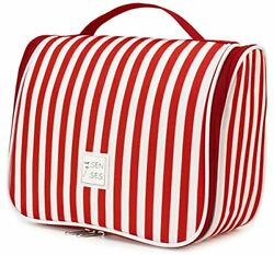 Hanging Toiletry Bag Makeup Large Capacity Travel Accessories For Women Ruby Red