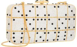 Judith Leiber Lucky Dice Vegas Minaudière Evening Bag Crystals Black Vintage