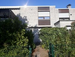 property. Terraced house with garden and balcony garage and cellar. In Germany.