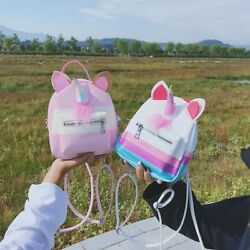 Mini Backpack Teens Girls Unicorn Small Shoulder Bag Funny Backpack with Horn $32.99