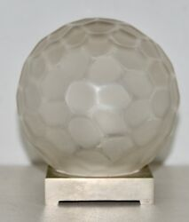 Genet And Michon France Art Deco Glass Globe Table Lamp C.1920s