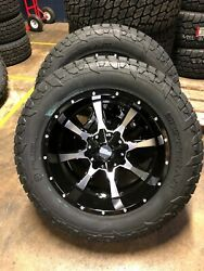 20x10 Moto Metal Mo970 Fuel At 33 Wheel And Tire Package 8x6.5 Gmc Sierra 2500 Hd