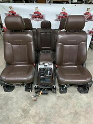 11-14 FORD F150 FRONT REAR SEAT CONSOLE PLATINUM LEATHER POWER HEAT COOLED