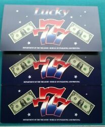 2009 1 One Dollar Bill Lucky Sevens Collectconsecutive Serial Numbers 1499