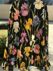 DOLCE&GABBANA $1295 Long Sleeve Tie Neck Floral printed Blouse size IT 42