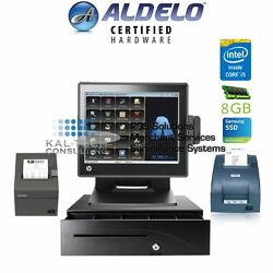 Aldelo Pro Restaurant All-in-one Complete Pos System Bundle New I5/8gb Ram