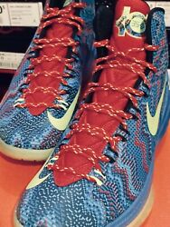 Nike Zoom Kevin Durant Kd V 5 Christmas Blue Atomic Green Red Size 10.5