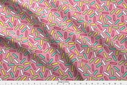 Sweets Candy Icecream Donuts Confetti Doughnut Fabric Printed by Spoonflower BTY