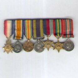 Period Miniature Great War India And World War Ii Group Of Seven