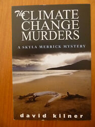 POSTCARD  PROMOTION CARD...THE CLIMATE CHANGE MURDERS BY DAVID KILNER...BEACH