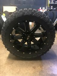 20x10 Ion 141 33 Mt Black Wheel And Tire Package Set 8x6.5 Dodge Ram 2500 3500