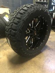 20x10 Ion 141 35 Mt Black Wheel And Tire Package Set 8x6.5 Dodge Ram 2500 3500