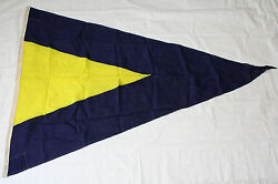Vintage U.S. Navy Naval Signal Flag 1ST SUBSTITUTE SIZE: 46 X 66 inches L158