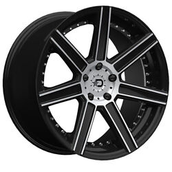 (4) 20x8.5 Black Dropstars DS650 650MB 5x4.5 40 Nitto Ridge Grappler 35x11.5R20