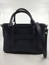 NWT LONGCHAMP 3D Midnight Navy Blue Small CROSSBODY Leather Tote Shoulder Bag