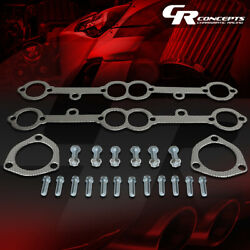 Exhaust Header Gasket Complete Set For 78-91 Chevy Sbc Small Block V8 Engine