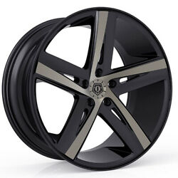 (4) 20x10 Black TIS TIS541 541BZ 5x4.5 40 Nitto Mud Grappler 40x15.5R20 Rims Ti